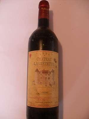 1996er Chateau Lagrezette Cahors 12,5 % vol 0,75 lt Frankreich