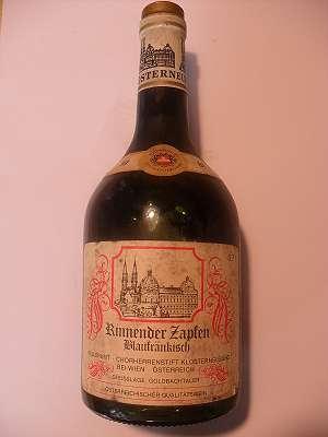 1981er Rinnender Zapfen Blaufränkisch 0,7 lt Chorherrenstift Klosterneuburg