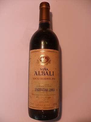 1993er Vina Albali Tinto Reserva 12,5 % vol, 0,75 lt Spanien