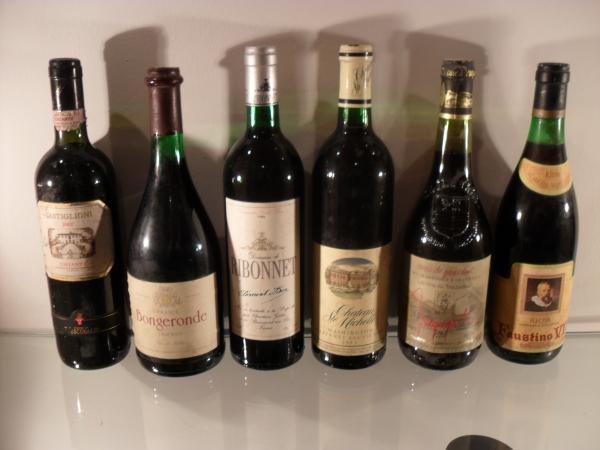 Konvolut von 6 Flaschen X 0,75 lt Rotweine
