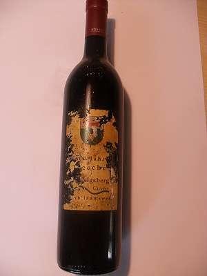 600 Jahre Tieschen Jubiläumswein Cuvée Rot 2004 13,5 % vol Platzer
