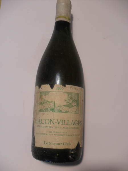Mácon-Villages 1992 12,5 %vol Le Savour Club 0,75 lt