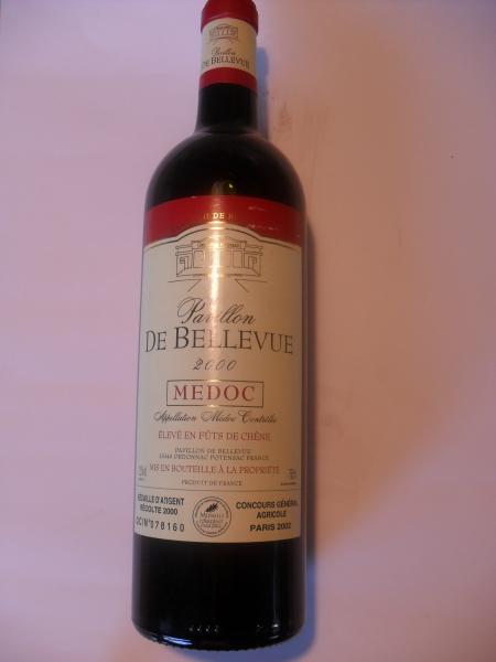 2000er Pavillon de Bellevue Medoc Bordeaux 12,5 % vol 0,75 lt