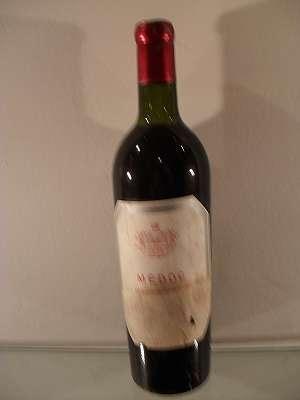 1957er Rotwein aus Médoc 0,7 lt + 0,35 lt
