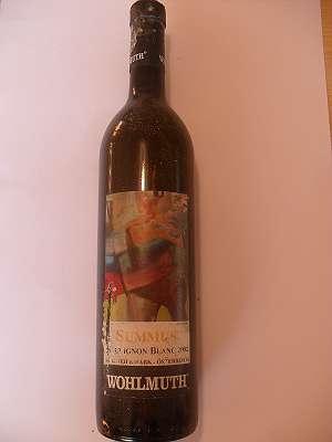 2002er Summus Sauvignon blanc 13 %vol trocken 0,75 lt Wohlmuth Südsteiermark