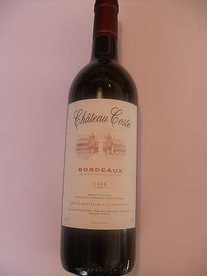 1996er Cháteau Coste Bordeaux 12 %vol 0,75 lt